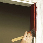 Paint inside door frame.