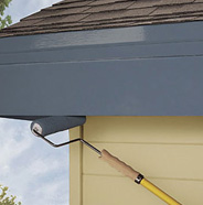 Roll paint onto bottom of fascia.